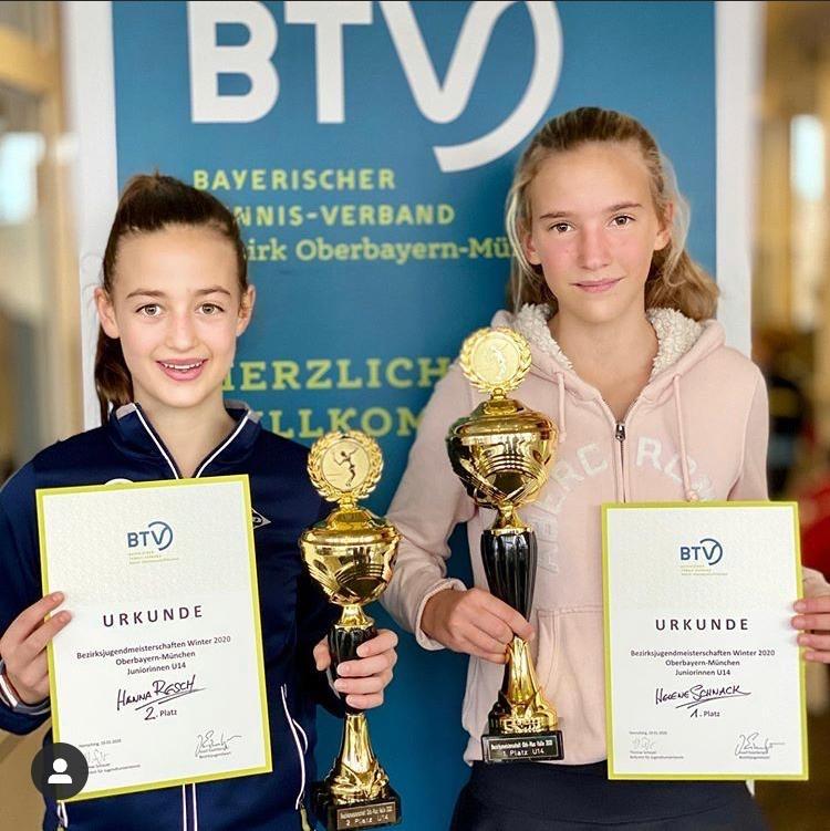 Doppelsieg bei Jugend-Bezirksmeisterschaft für den TC Raschke