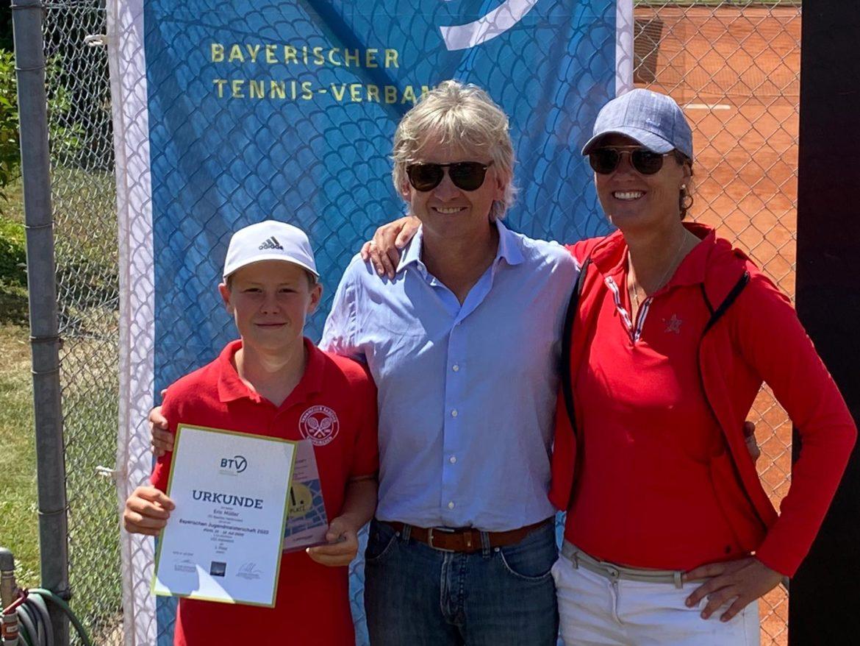 Eric Müller vom TC Raschke Taufkirchen wird Bayerischer Meister